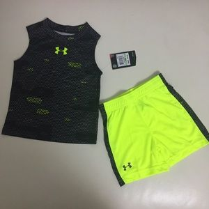 Under Armour Sleeveless Top Shorts Outfit
